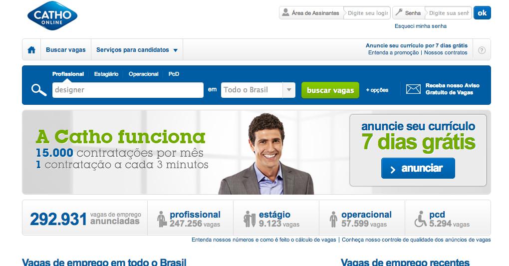 www.Catho.com.br – Catho Online – Empregos e Vagas
